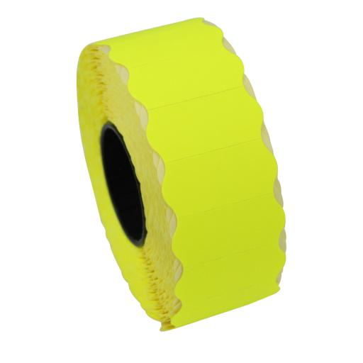 CT4 Fluorescent Yellow 26mm x 12mm Price Gun Labels
