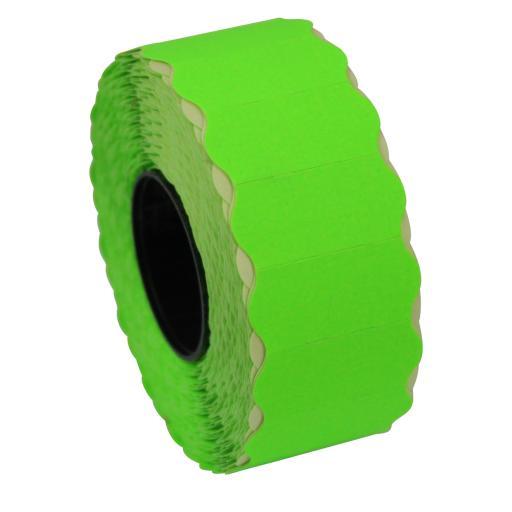 CT4 Fluorescent Green 26mm x 12mm Price Gun Labels
