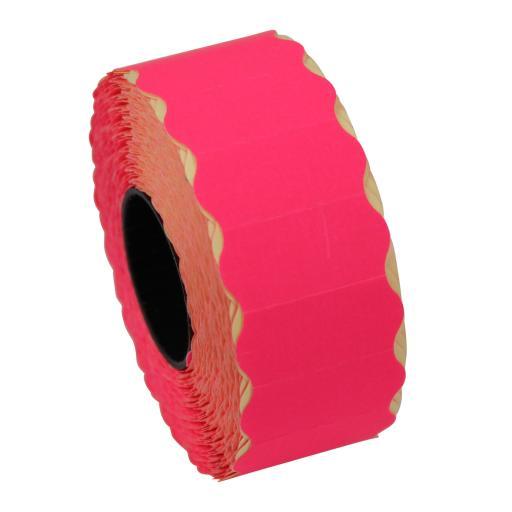 CT4 Fluorescent Pink 26x12mm Price Gun Labels