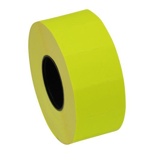 CT7 Fluorescent Yellow 26mm x 16mm Price Gun Labels