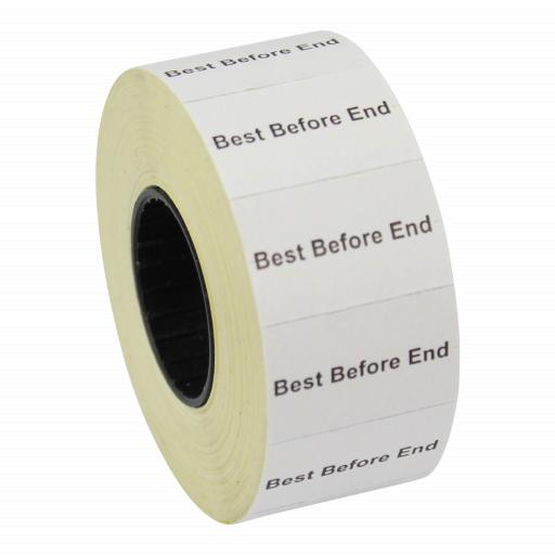 CT7 Best Before End 26x16mm Price Gun Labels