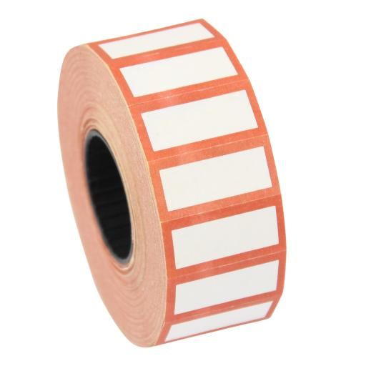 CT4 White with Red Border 26mm x 12mm Price Gun Labels