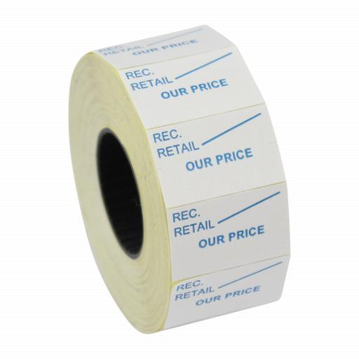 CT7 Our Price 26x16mm Price Gun Labels