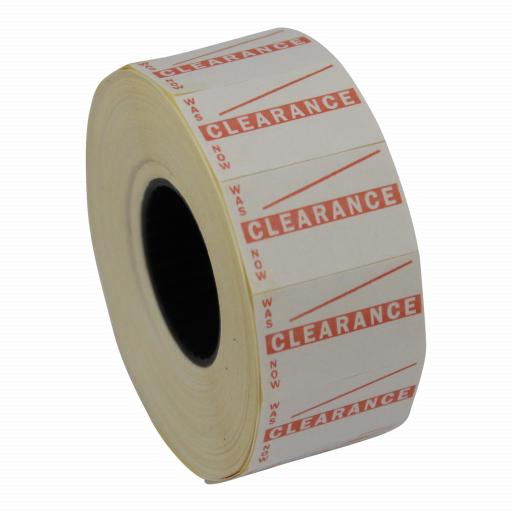 CT7 Clearance 26x16mm Price Gun Labels