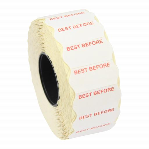 CT4 Best Before 26mm x 12mm Price Gun Labels