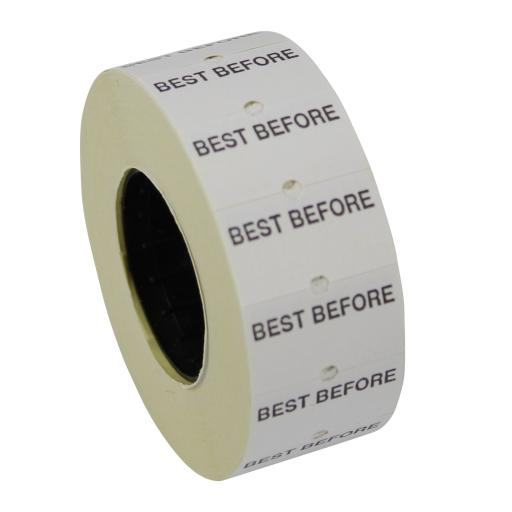 CT1 Best Before 22x12mm Labels