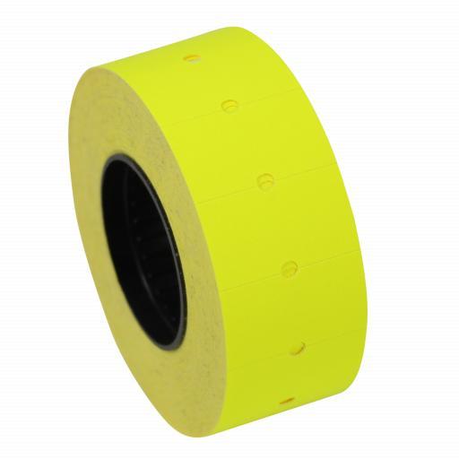 CT1 Fluorescent Yellow 22x12mm Price Gun Labels