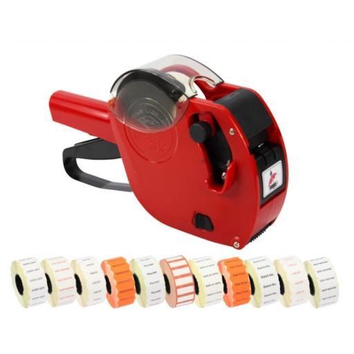 Motex 2612 Date Coding Gun Printed Starter Pack in Red