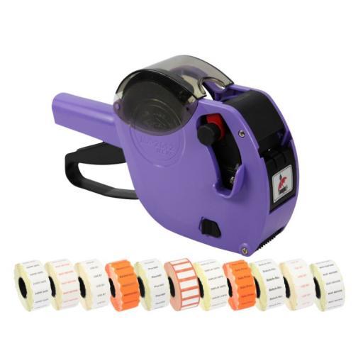 Motex 2612 9 Band Pricing Gun Printed Label Starter Pack in Purple